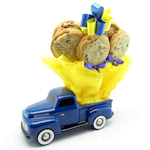Blue Vintage Pickup Truck Cookie Planter