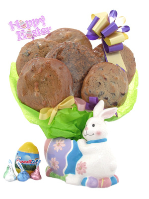 Easter Bunny Ceramic Cookie Pot imagerjs