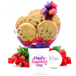 Sweetest Day Gourmet Cookie Tin Bouquet