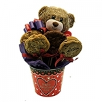 Valentine Bear Cookie Pot Gift