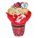 Valentine Hearts Cookie Pail Bouquet