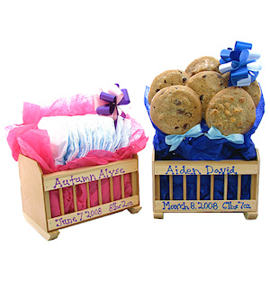 Cookie Gift Wood Baby Cradle imagerjs