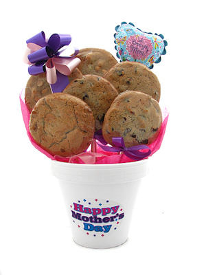 Mother's Day Gourmet Cookie Bouquet Pot imagerjs