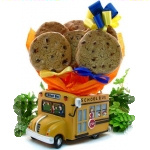 School Bus Cookie Gift Planter