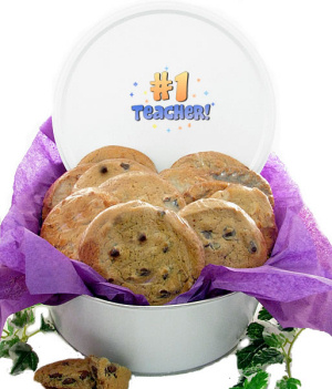 #1 Teacher Tin of Gourmet Cookies imagerjs