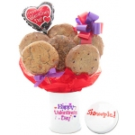 Happy Valentine's Day Cookie Tin Bouquet