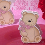 Cute And Cuddly Pink Teddy Place Card Holder