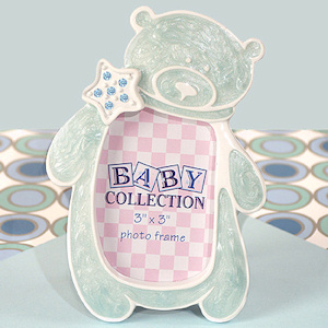 Blue Teddy Bear Frame with Sparkling Star imagerjs