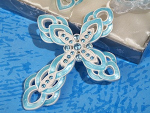 Blue Ornate Cross Favors imagerjs
