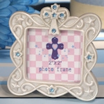 Small Blessings Blue Cross Design Photo Frame