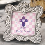Small Blessings Silver Cross Design Photo Frame
