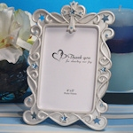 Blessed Events Blue Cross Design Photo Frames