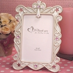 Blessed Events Pink Cross Design Photo Frames