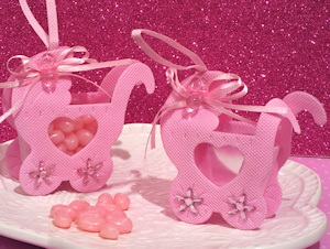 Adorable Pink Baby Carriage Bag/Holder imagerjs