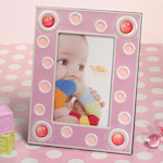 Lotsa Dots Pink Baby Photo Frame