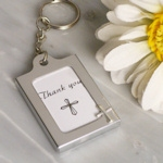 Cross Design Photo Frame Key Chain Favors