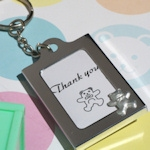 Teddy Bear Photo Frame Keychain Favors