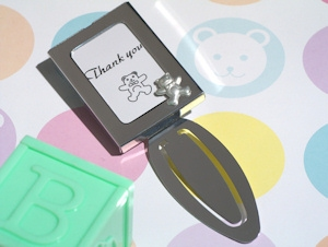 Teddy Bear Photo Frame Bookmark Favors imagerjs