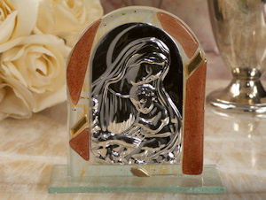 Brown and Gold Glass Arch Religious Icon Favors imagerjs