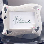 Cross Photo Frame with Cross & Pink Crystals