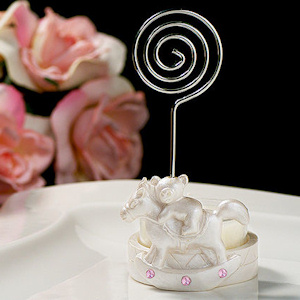 Pink Rocking Horse Placecard & Candle Holder imagerjs