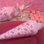 Pink Teddy Bear Designed Ice Cream Towel Favor