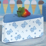 Blue Teddy Bear Designed Towel Cake Favor