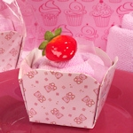 Pink Teddy Bear Designed Cupcake Towel Favor