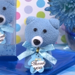 Cute and Cuddly Blue Teddy Bear Towel Favor