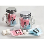 Baby Gender Reveal Mason Jar Mint Candy Favors
