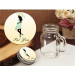 Trendy Mommy Neutral Baby Shower Vintage Mini Mason Jar Favo