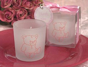 Pink Bear Glitter Candle imagerjs