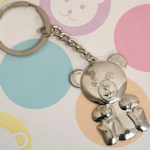 Silver Teddy Bear Keychain Favors
