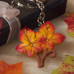 Fall Leaf Keychain Baby Shower Favors