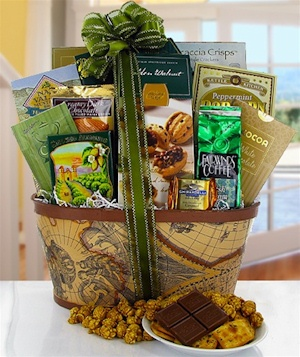 California Gold Gourmet Treats Gift Basket data-pin-no-hover=