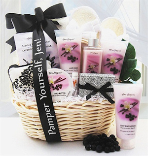 Black Current Vanilla Spa Gift Basket image