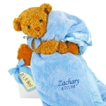 Bear Essentials Personalized Blanket Gift Set