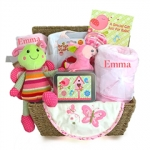 Garden Friends Baby Girl Gift Basket