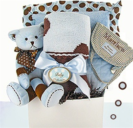 Swanky Dots Deluxe Boy Gift Basket data-pin-no-hover=