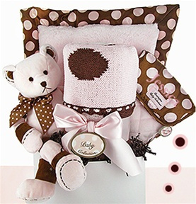 Swanky Dots Deluxe Girl Gift Basket data-pin-no-hover=