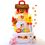 Farm Friends Diaper Cake