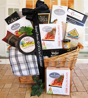 Fire and Flavor Deluxe Grilling Gift Basket imagerjs