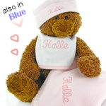 Personalized Gund Bear Keepsake Set
