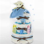 Little Lamb 3 Tier Boy Diaper Cake