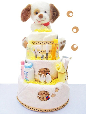 Puppy Paws 3 Tier Diaper Cake image