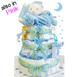 Sleepy Bear Three Tier Diaper Cake