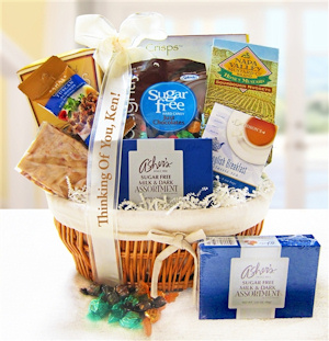 Sugar Free Thinking Of You Gift Basket imagerjs