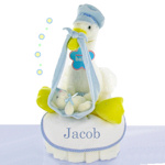 Stork Nest Boy Diaper Cake