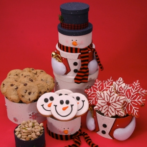 Holiday Snowman Treats Tower Delete image