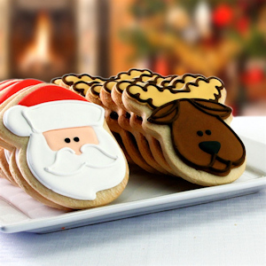 Santa and Reindeer Christmas Cookie Box Delete imagerjs